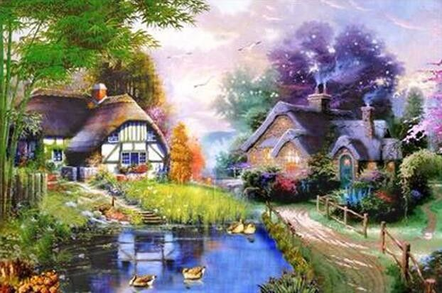 Find More Diamond Painting Cross Stitch Information about The Lake