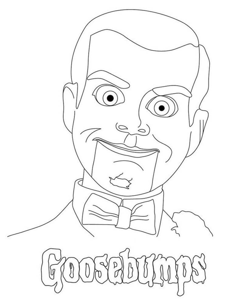Goosebumps Character Coloring Pages Goosebumps Is A Very Unique Horror Series Fo In 2020 Fnaf Coloring Pages Halloween Coloring Pages Printable Cartoon Coloring Pages