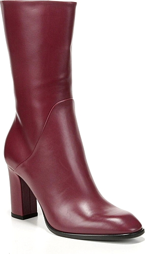 f2236a2152e Women s Via Spiga Adrinna Mid Calf Boot in Terracotta Leather. Smooth  leather distinguishes a streamlined