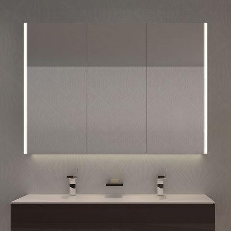Spiegelschrank Nach Mass Mit Led Credo Sides 989709178 Spiegelschrank Badspiegelschrank Modernes Badezimmerdesign