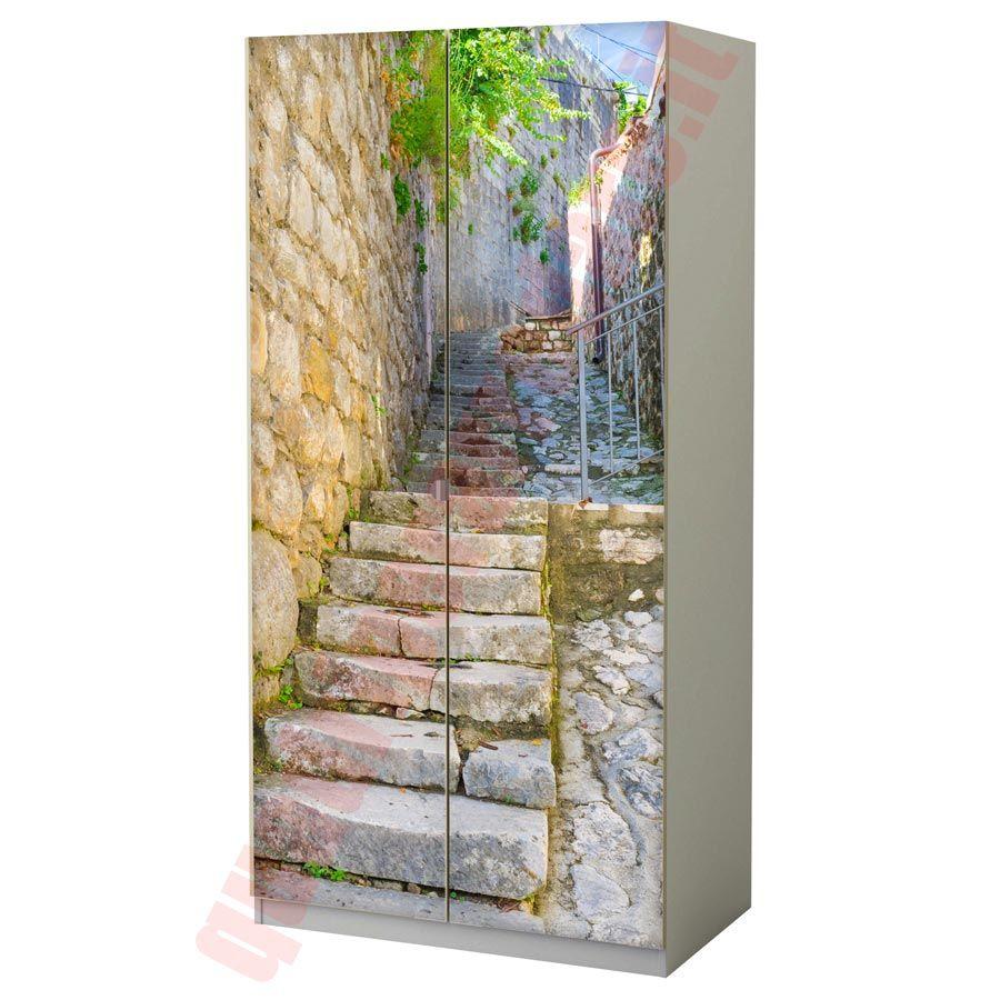 Adesivi Armadio Ikea pellicola per armadio scalinata in pietra (con immagini