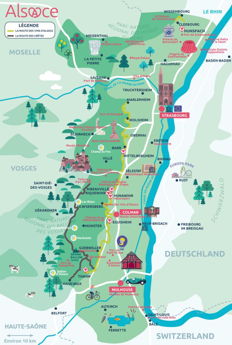 Plaisirs d'automne en Alsace | Carte touristique, Alsace ...