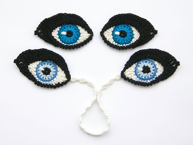 Crochet EYES and BOOKMARK pattern by Christa Veenstra | Patrones ...