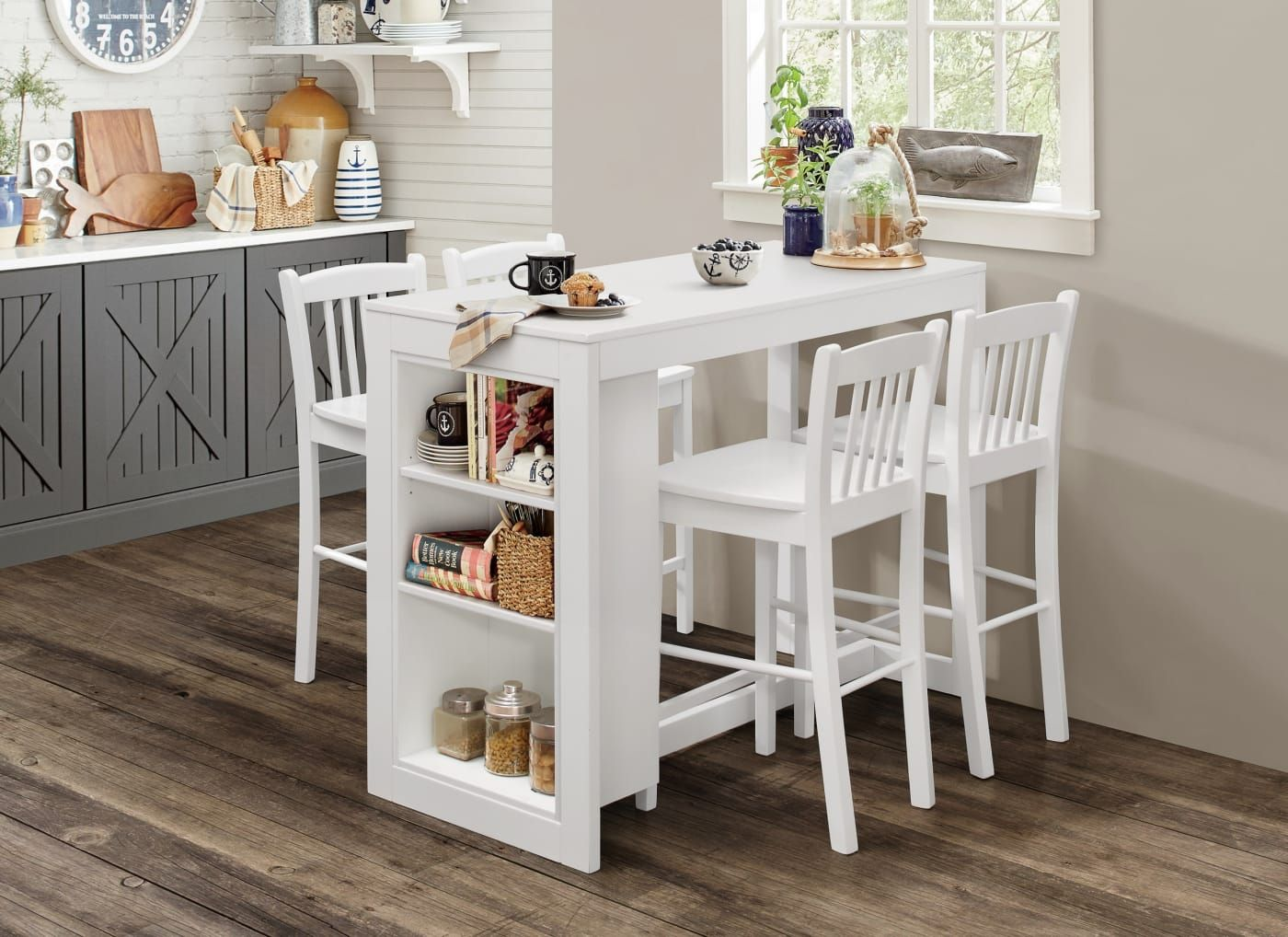 Jofran Tribeca Classic White Counter Height Dining Table With