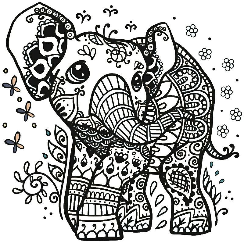 Pin Von Noodles Auf Cricut Designs Fur Elefantentattoos Tiere Zum Ausmalen Mandala Elefant