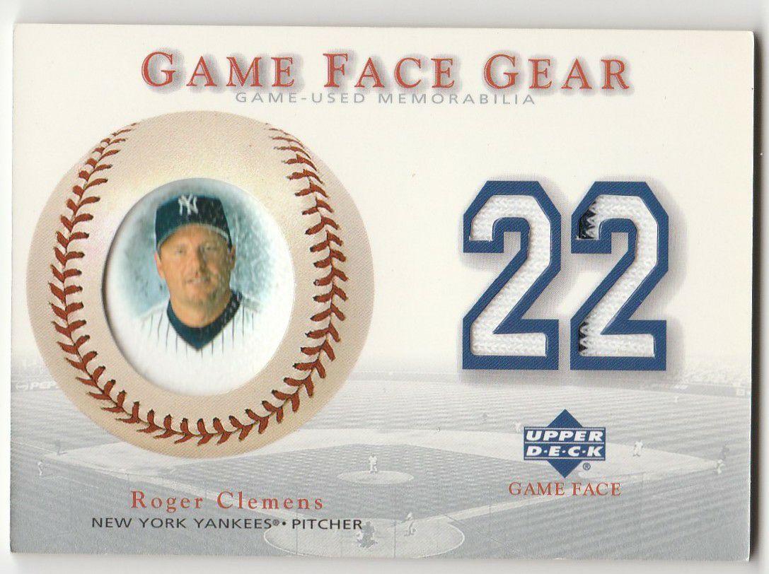 2003 Upper Deck Gameface Gear Roger Clemens Jersey New