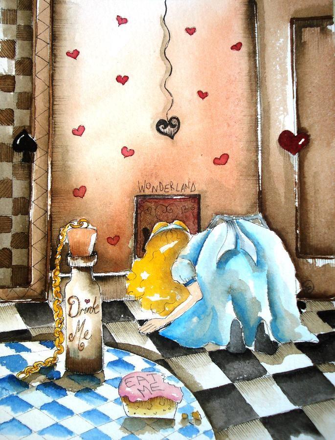 The secret door  alice in wonderland  by lucia stewart  www.fineartamerica.com