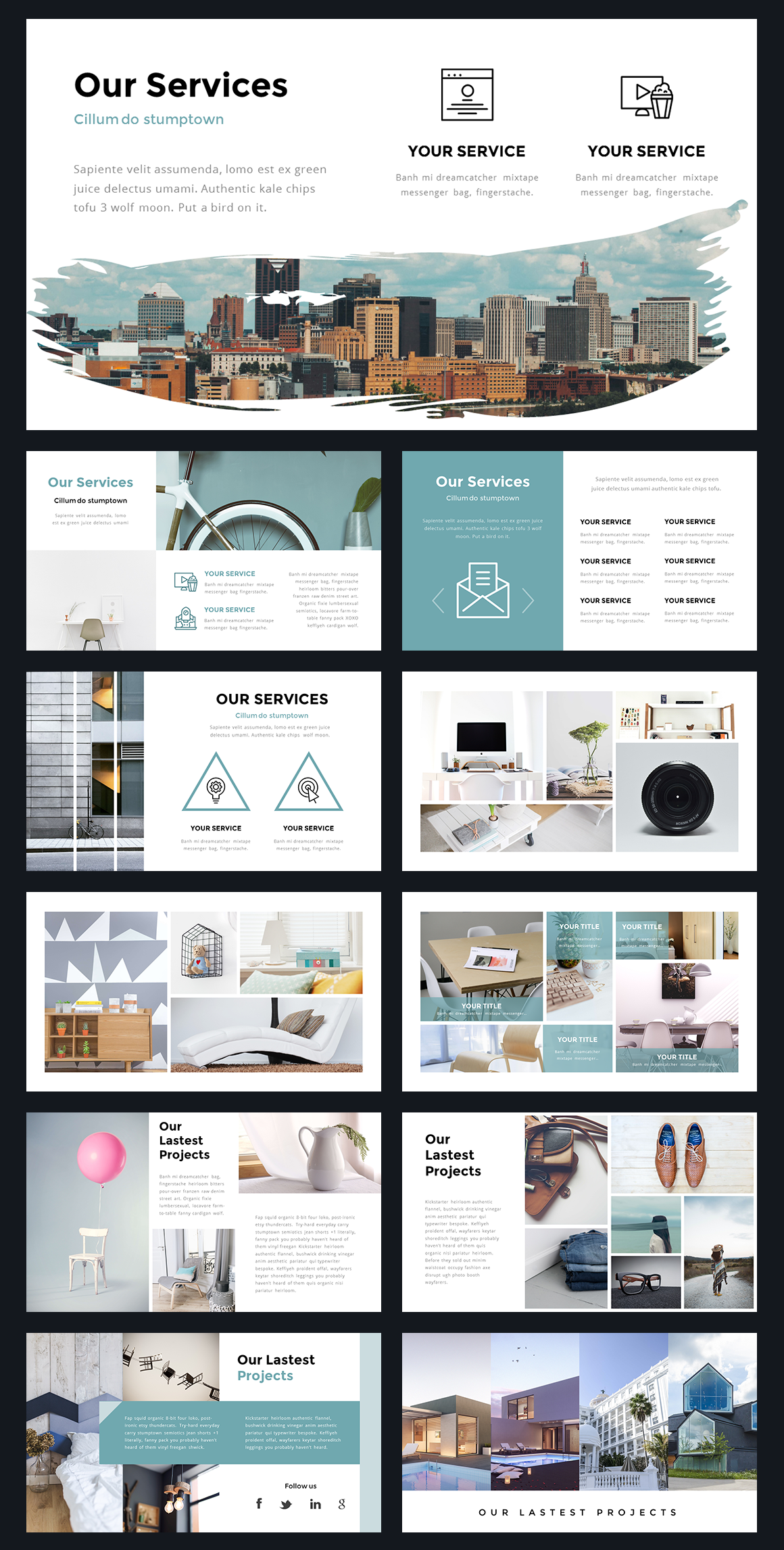 Portal Modern Powerpoint Template by Thrivisualy on @creativemarket ...