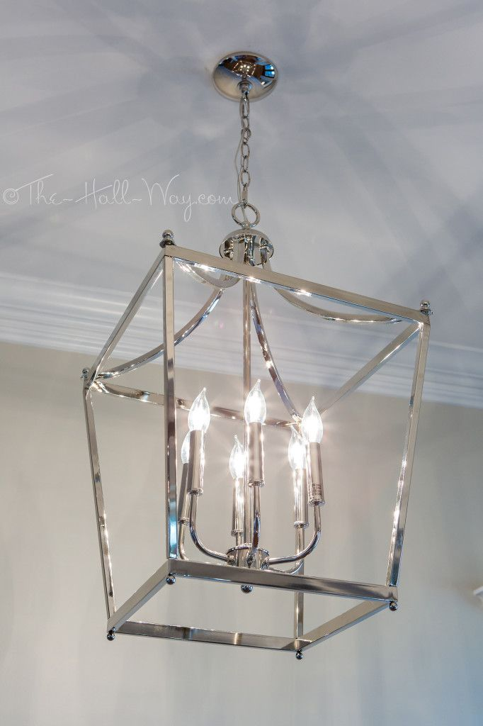 Foyer with Capitol Lighting Stanton Pendant | Living room ...