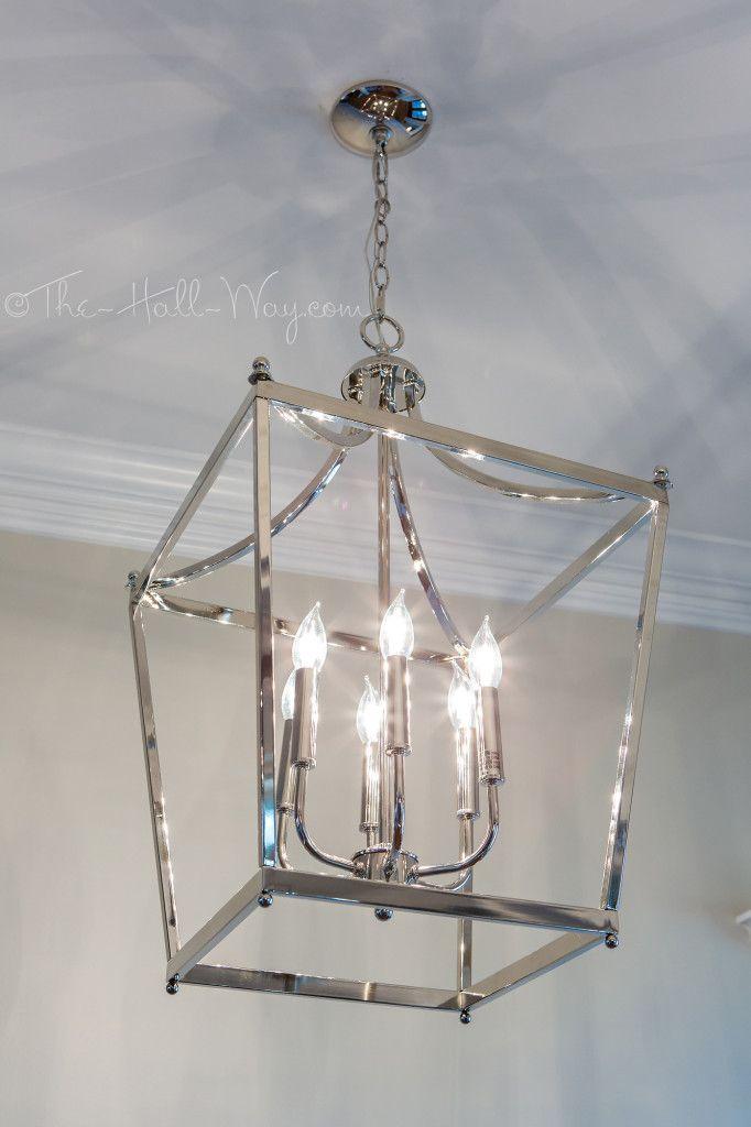 Foyer lighting ideas. light is from restoration hardware foucault ...