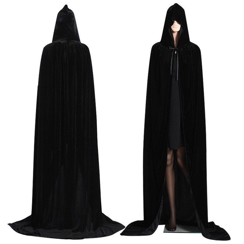 Cusfull Cape /à Capuchon Robe /à Capuche Poncho Gothic V/êtements M/édi/évale Manteau pour Hommes et enfants pour Cosplay Halloween Masquerade Soir/ées V/énitienne