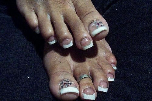 Acrylic Nails Toes French Pedicure Acrylic Toe Nails Pedicure Designs Toenails