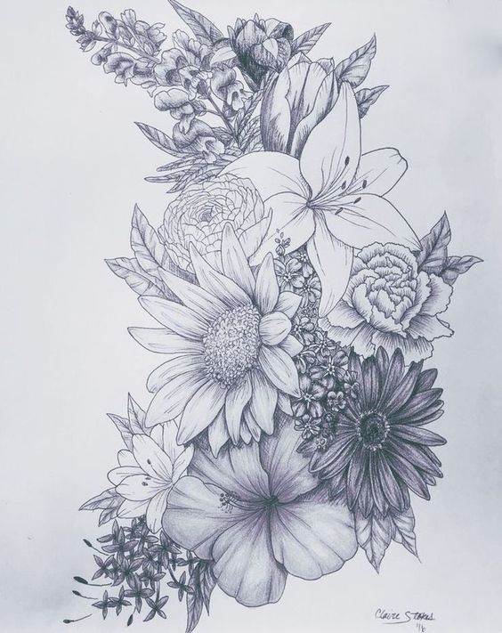 #inspirational #tattoo #tattoodesign  #flowertattoos - flower tattoos