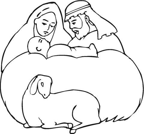 Nacimiento de Jesús Dibujo para colorear | nacimientos de navidad ...