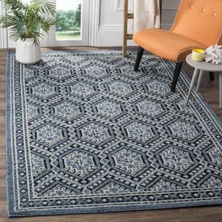 Safavieh Paseo Hand Knotted Navy Wool Rug 6 X 9 Interior