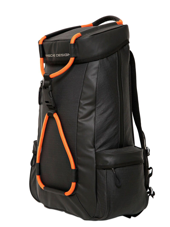 5e4c2755aa Porsche Design Sport By Adidas Water Repellent Coated Ripstop Backpack in  Orange for Men (BLACK ORANGE)