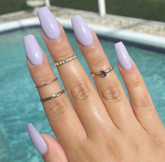 45 Simple Summer Nails Colors Designs 2019 Koees Blog Lilac Nails Lavender Nails Summer Nails Colors Designs