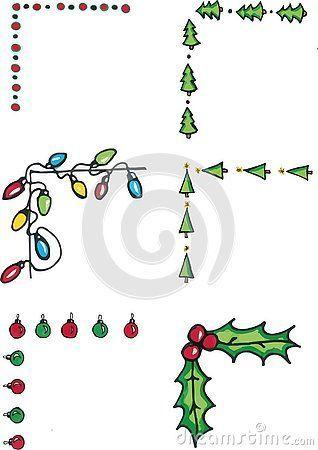Bunte Weihnachtsgekritzel. Hand gezeichnet und so süß. lebendige farben in totalem schaden ..... #drawingideas