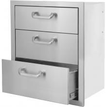 Kingston Series 20 Inch Stainless Steel Triple Access Drawer Diy Outdoor Kitchen Outdoor Refrigerator Drawers