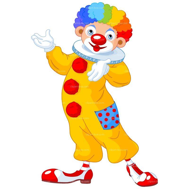 clown with balloon clipart kid