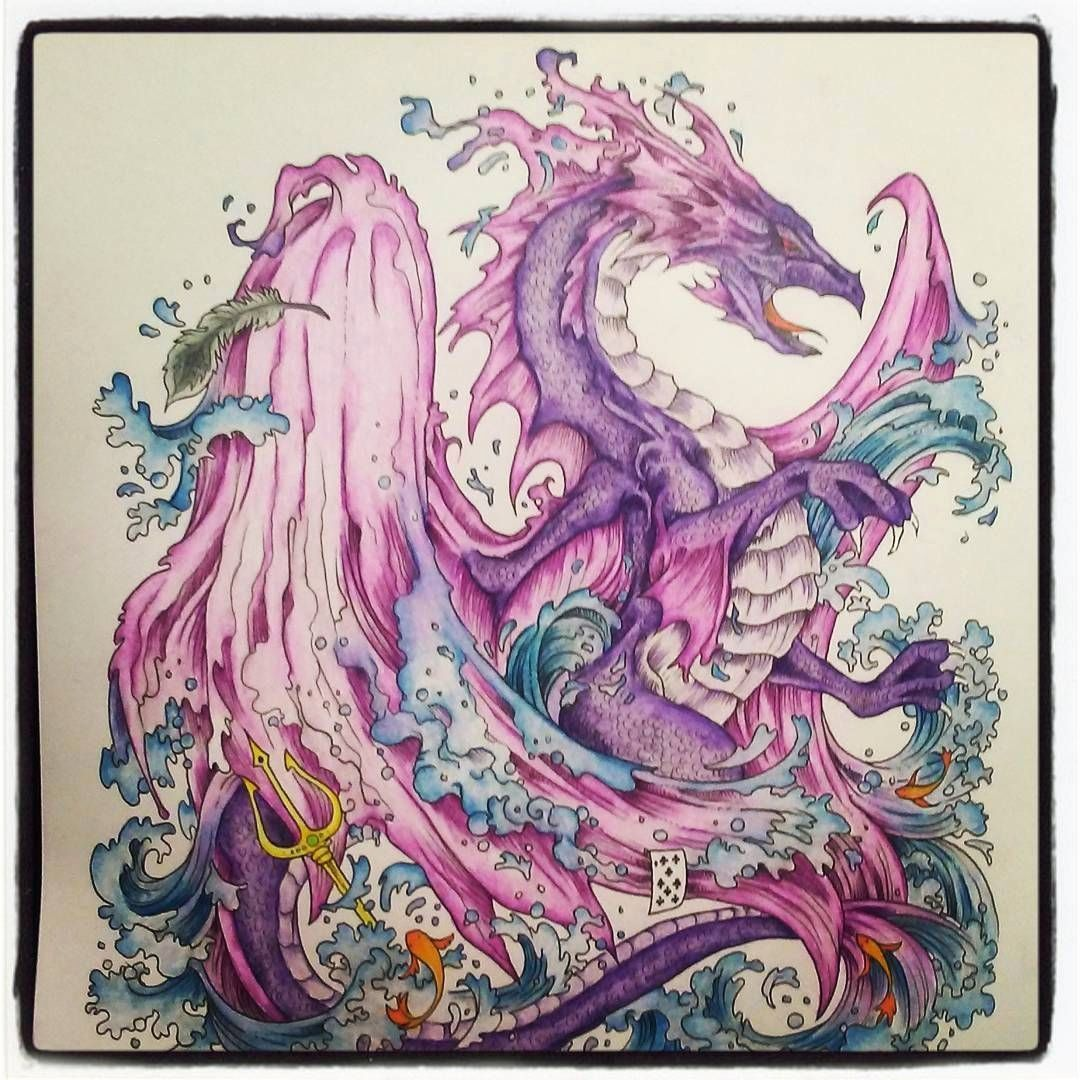 Coloring Book With Water Pen Best Of Water Dragon Kerbyrosanes Mythomorphia Prismacolor Coloring Book Art Coloring Books Dragon Images