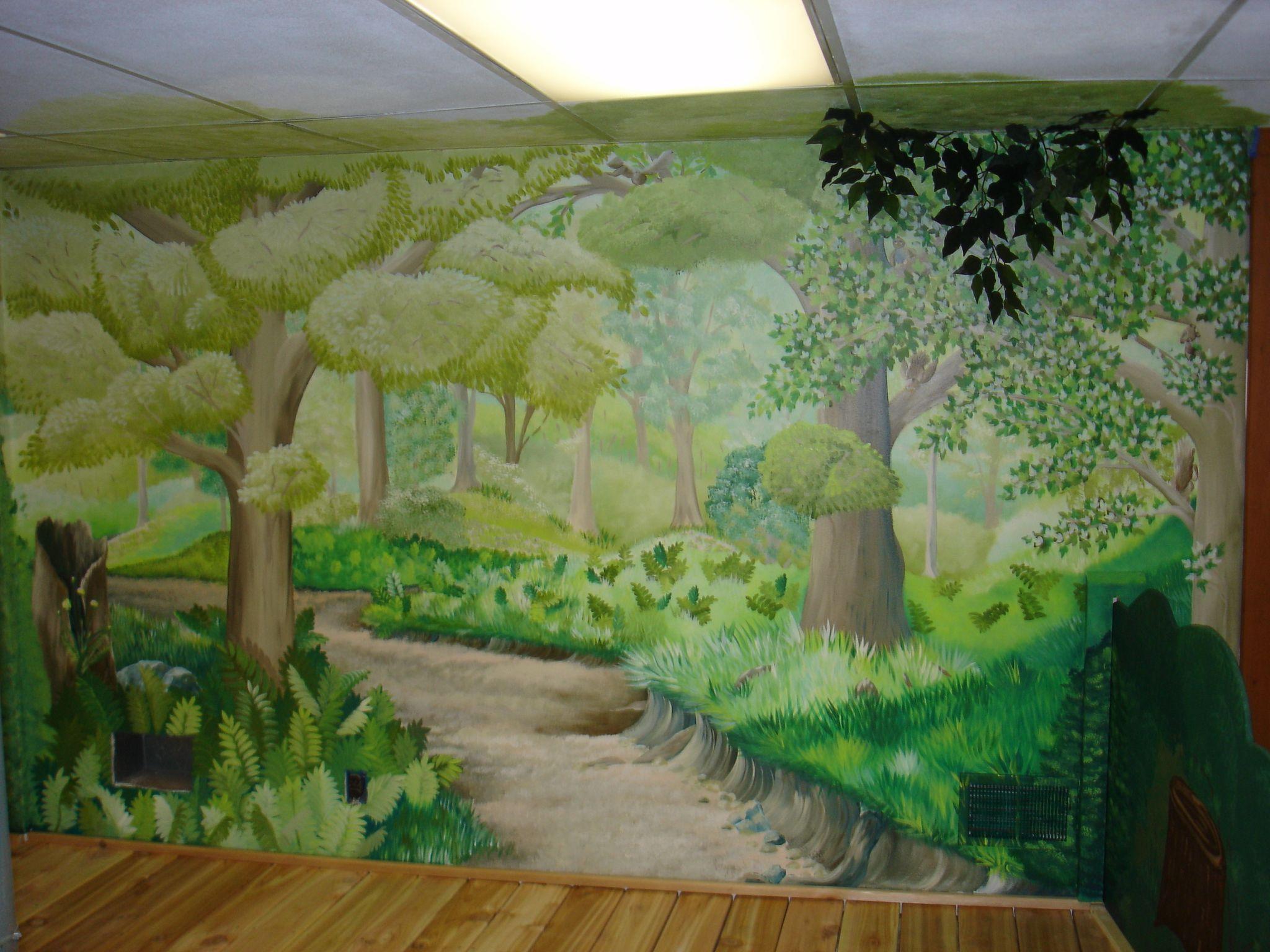 Forest Mural Forest Mural Mural Wall Art Kids Room Murals