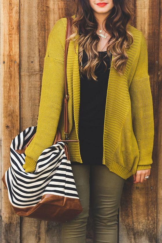 Ladakh Playground Knit Golden Yellow Cardigan Sweater Style File