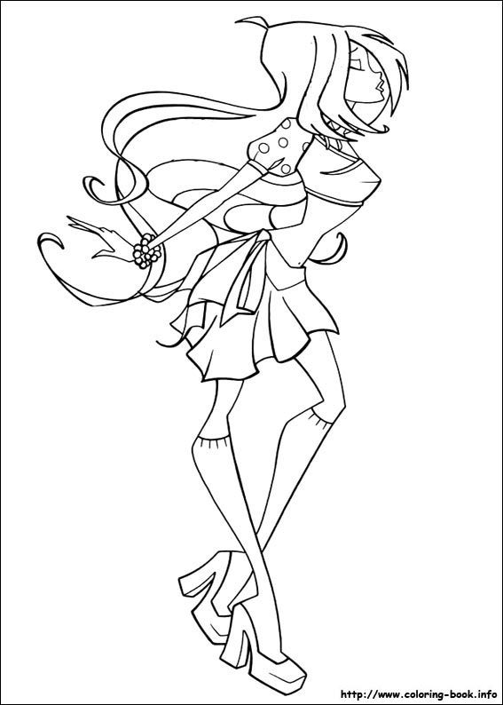 Winx Club coloring picture | printables | Pinterest