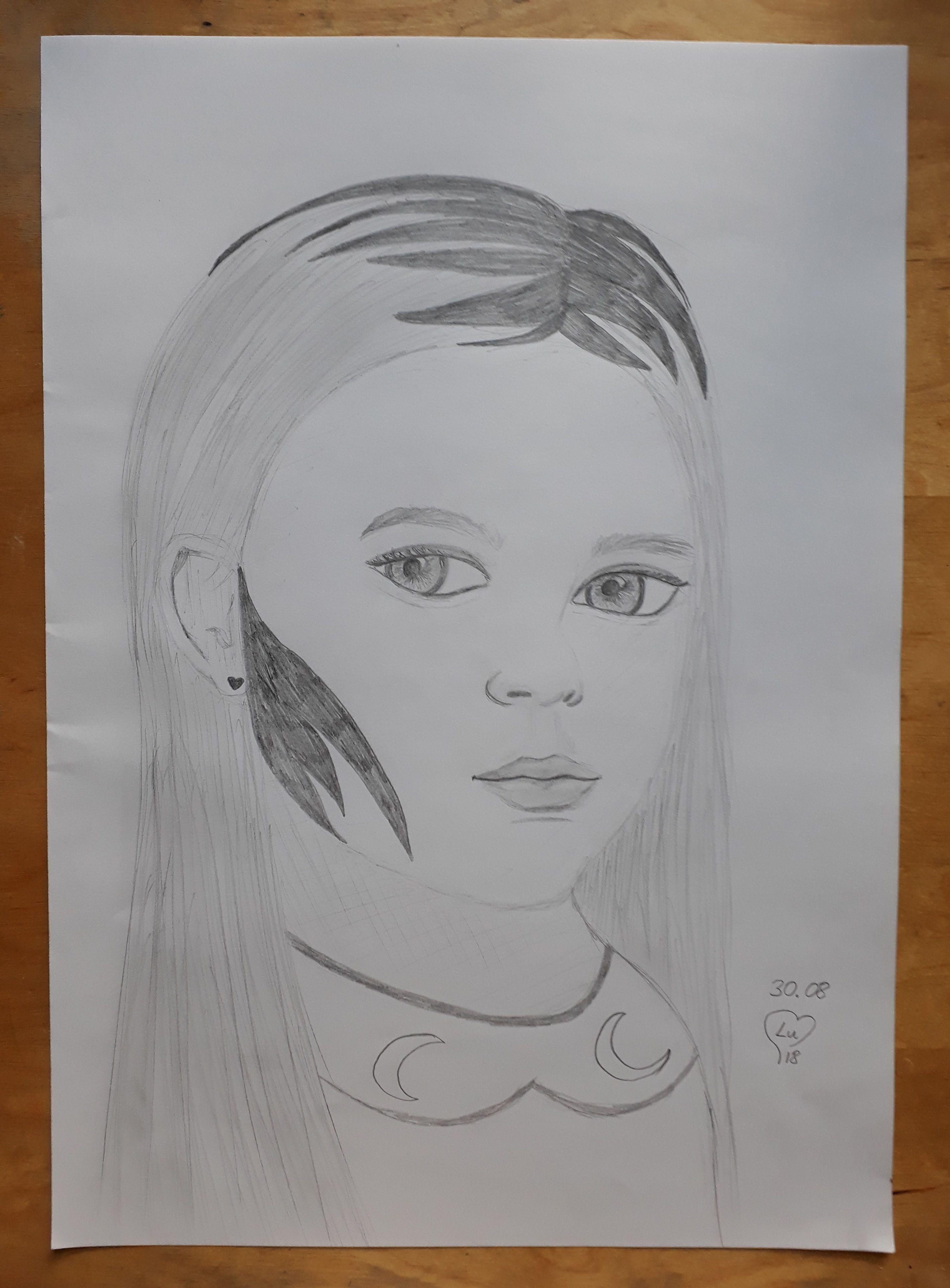 Moon girl modern art for sale beautiful sketches art world beautiful moments