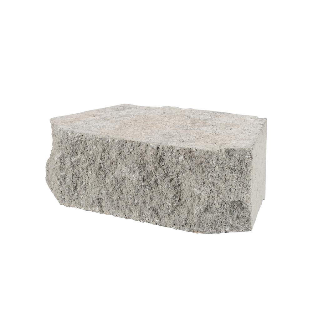 4 In X 11 75 In X 6 75 In Pewter Concrete Retaining Wall Block 81100 The Home Depot In 2020 Concrete Retaining Walls Retaining Wall Block Retaining Wall