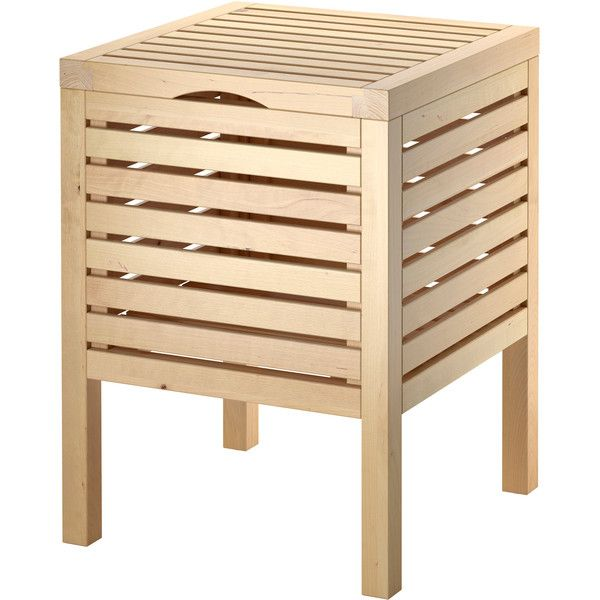 Ikea Molger Storage Stool Birch 30 Liked On Polyvore Featuring Home Furniture Stools Bathroom