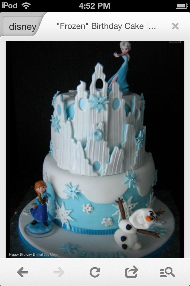Frozen Cake So Cool Cake Designs Pinterest Cake Birthdays