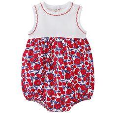 Petit Bateau - Cotton jersey and tube knit bloomer bodysuit - 113860