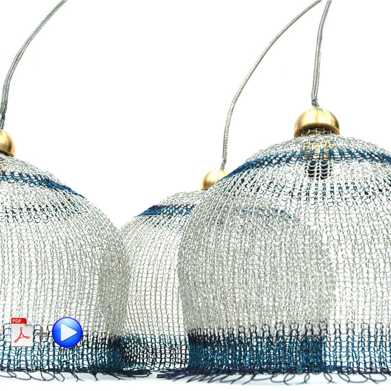 Wire Lampshade Pattern Crocheted Light Pendant DIY Home Decor ...