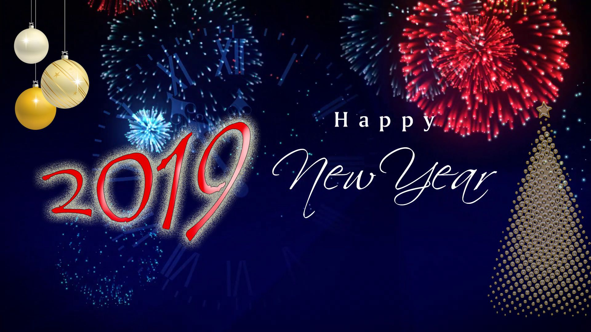 Beautiful Happy New Year 2019 Wallpapers for Desktop