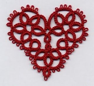 Tatted heart.  Thread