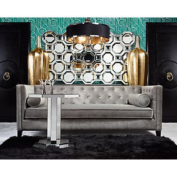Axis Floor Mirror Funky Home Decor Charcoal Sofa Living