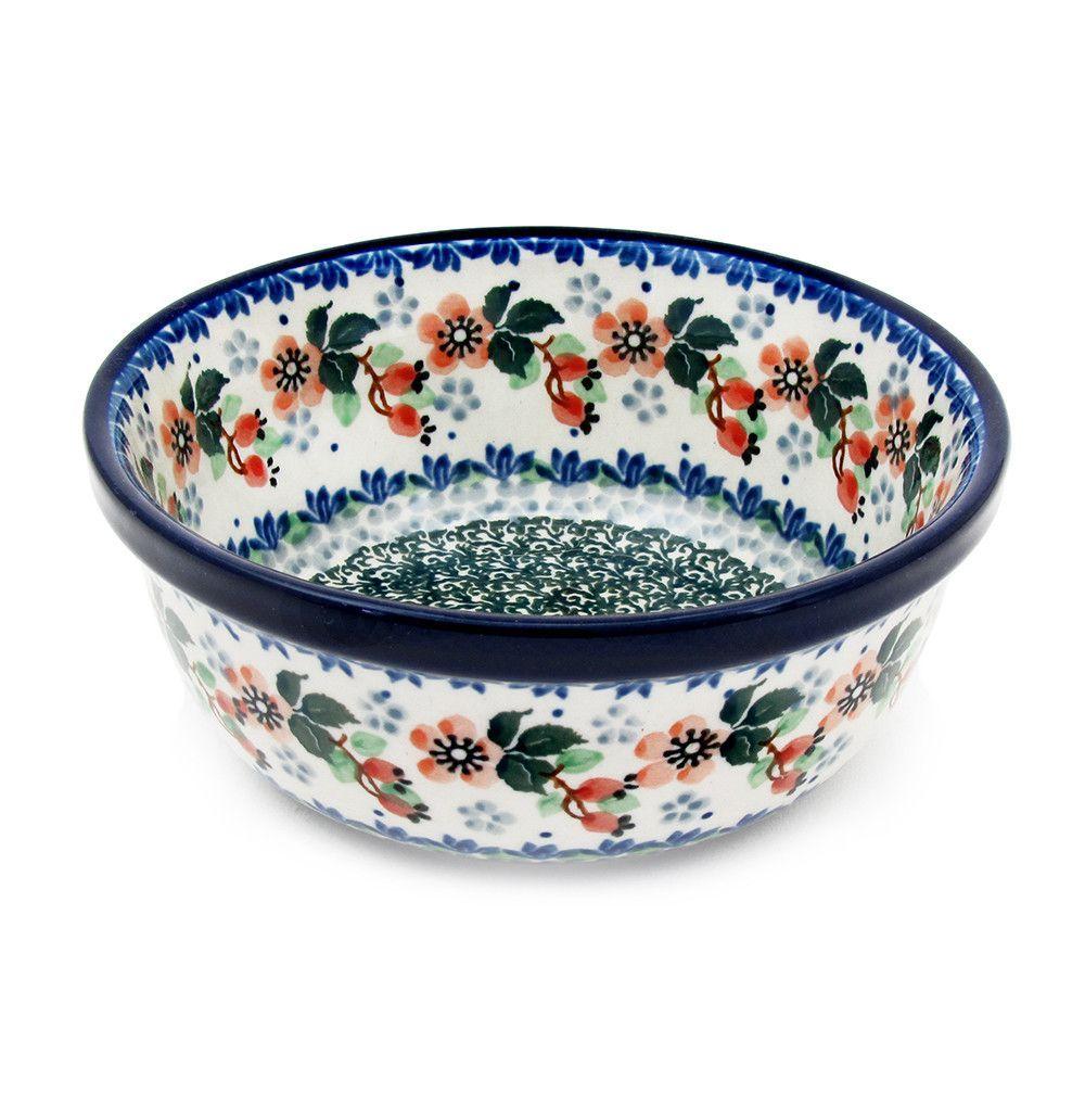 Polish Pottery Handmade 18 Oz 6 Berry Cereal Bowl Pattern 209 Peach Blooms Polish Pottery Patterns Polish Pottery Pottery