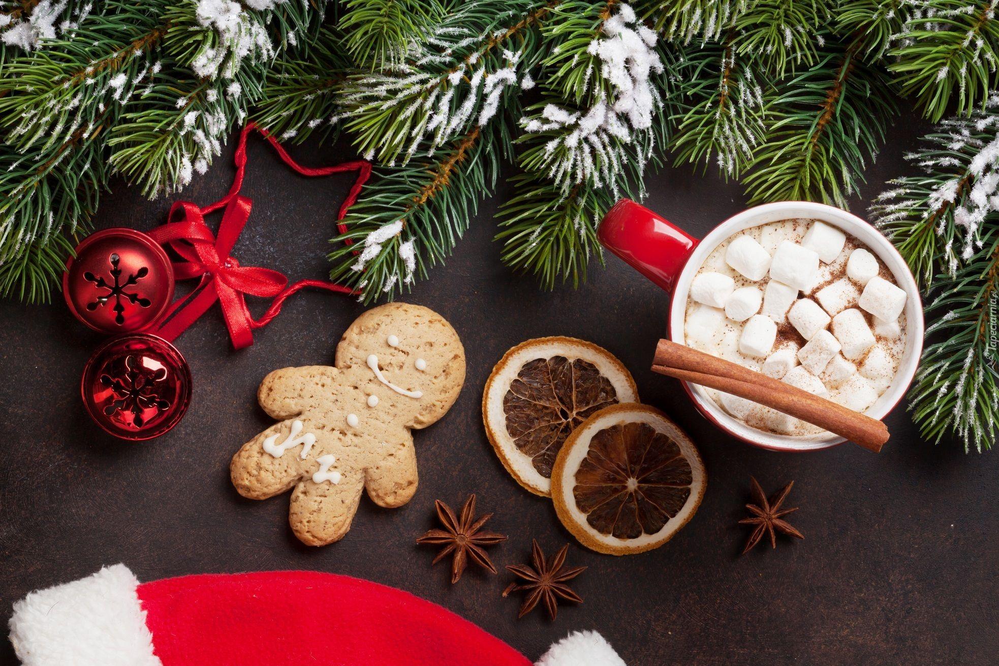 Kompozycja Swiateczna Boze Narodzenie Pierniczek Kubek Kakao Pianki Anyz Laska Cynamonu G Hot Chocolate Marshmallows Christmas Chocolate Hot Chocolate