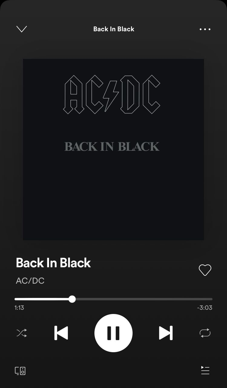 Back In Black A Song By Ac Dc On Spotify Music Collage Music Lyrics Quotes Songs Song Playlist