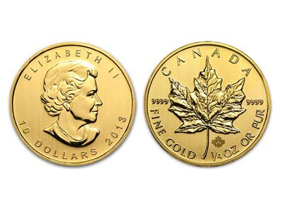 New 2013 1 4 Oz Canadian Maple Leaf Gold Coin Quarter Ounce Gold And Silver Coins Maple Leaf Gold Gold Bullion Coins