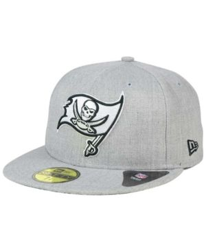 New Era Tampa Bay Buccaneers Heather Black White 59FIFTY Fitted Cap - Gray 7  1 4 fd368cb28