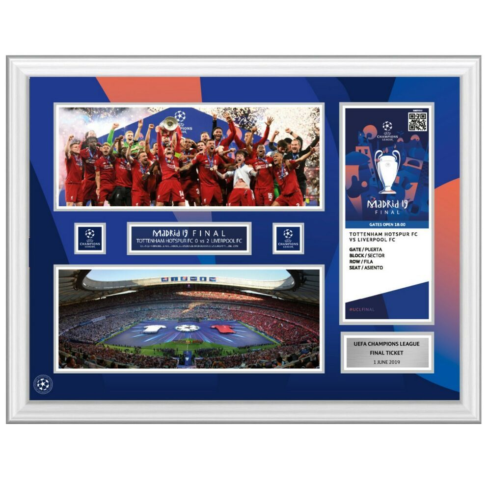 Champions League Final 2019 Ticket Display Frame Tottenham V Liverpool Champions League Final Liverpool Champions League Final Liverpool Uefa Champions League