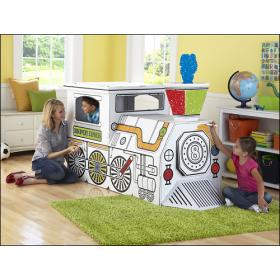 Discovery Kids Cardboard Train 1647919 Best Buy Cardboard Train Discovery Kids Coloring For Kids