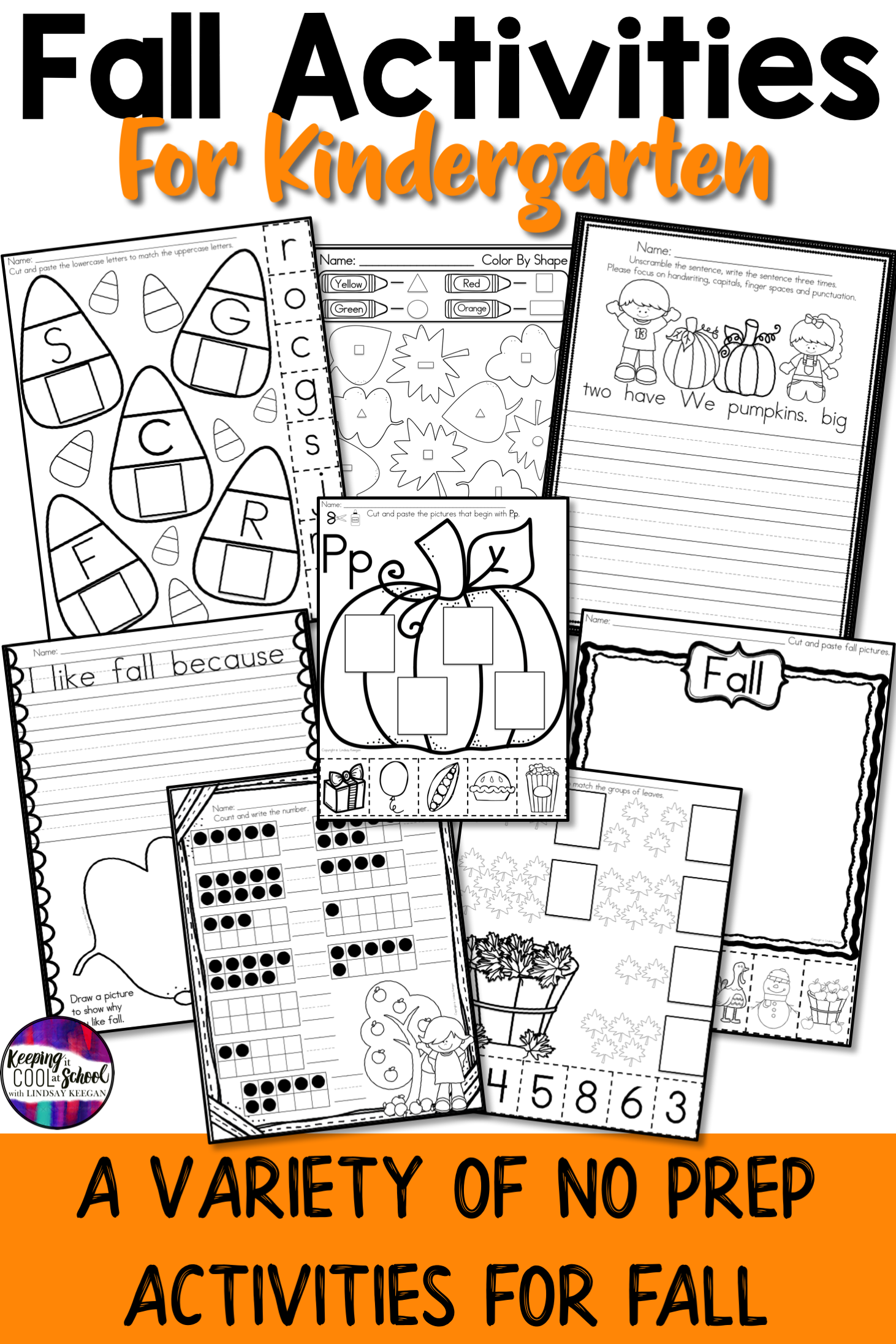 Fall Worksheets And Activities For Kindergarten With