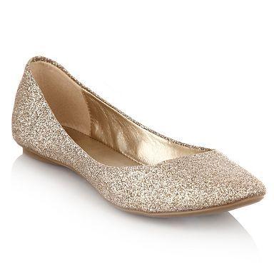 0de2dd7d793e Gold glitter ballerina flats - Flat shoes - Shoes   boots - Women ...