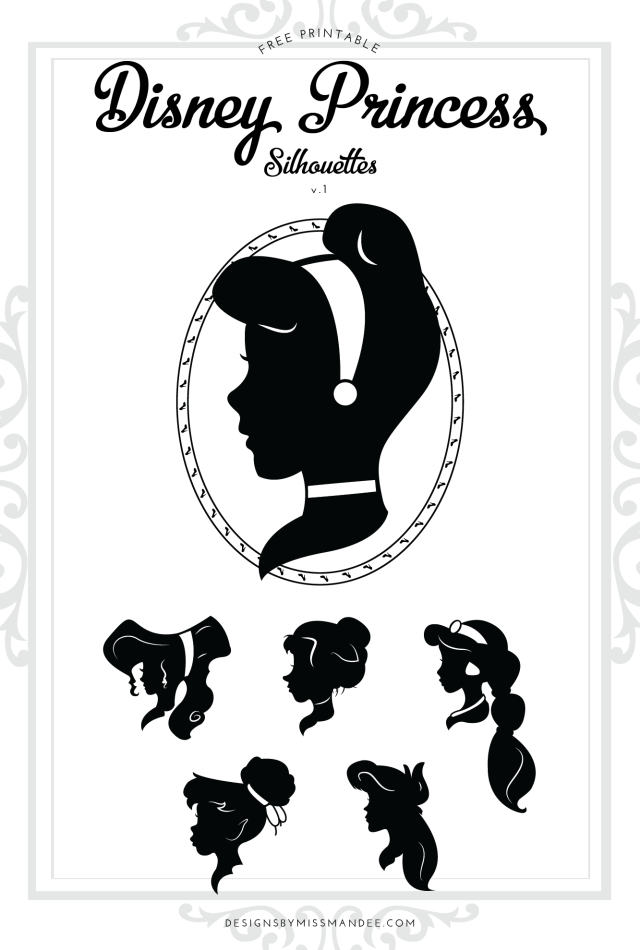 disney princess silhouettes v 1 printables graphics pinterest silhouette plotten und. Black Bedroom Furniture Sets. Home Design Ideas