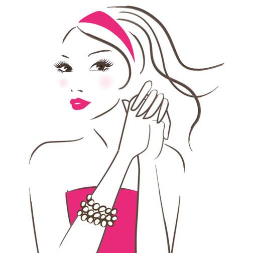 pink girl #instagram #illustration