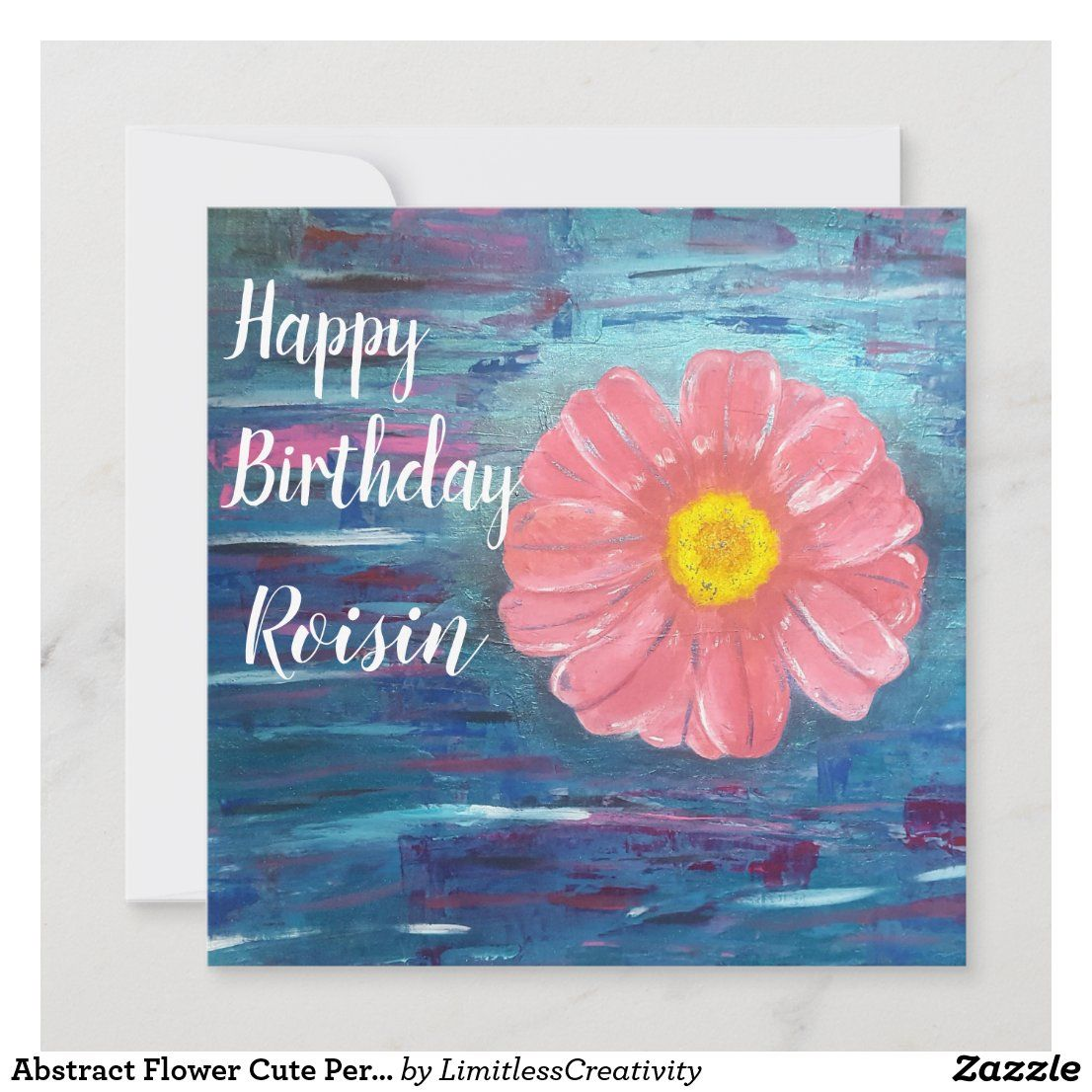 Abstract Flower Cute Personalised Birthday Card Zazzle Co Uk Daughter Birthday Cards Birthday Cards For Mum Unique Birthday Cards