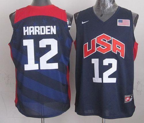 68b9cfc44 Nike 2012 Olympics Team USA  12 James Harden Dark Blue Stitched NBA Jersey
